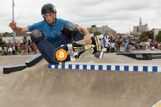 Tony Hawk Bitcoin March 2020 american skateboarder conference san francisco